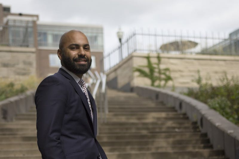 University of Minnesota Regent Abdul Omari poses for a portrait on Monday, Sept. 24 on East Bank campus. Omari's regent seat will be up for election in 2019.