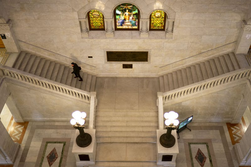 The inside of Minneapolis City Hall as seen on Thursday, Oct. 31, 2019.
