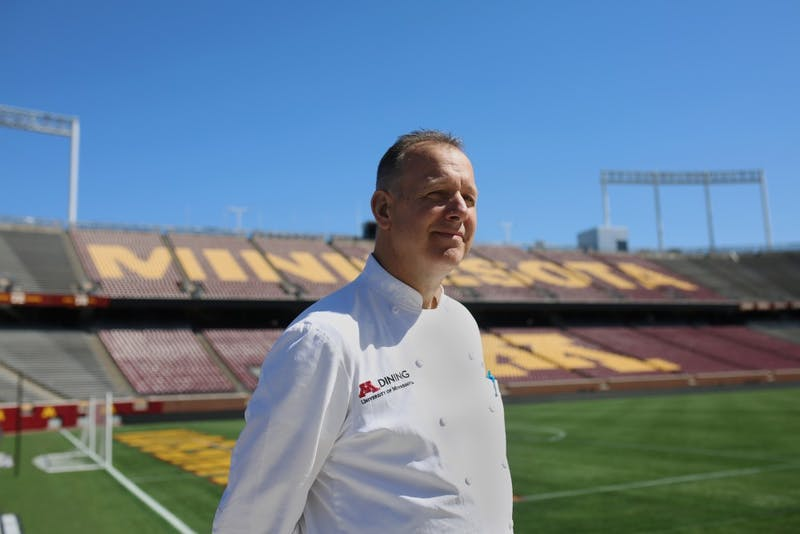 District Executive Cheff Gregg Malsbary poses for a portrait inside TCF Bank Stadium on Monday, July 16. Malsbary led relief efforts to cook thousands of meals a day for people impacted by the two volcanic eruptions in Hawaii and Guatemala this year.