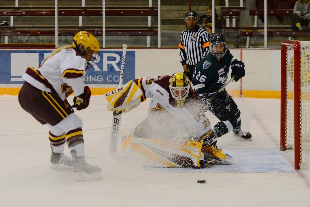 WCHA: Women - Alex Gulstene And Sydney Scobee Work As The Gophers' Puck-stopping Duo