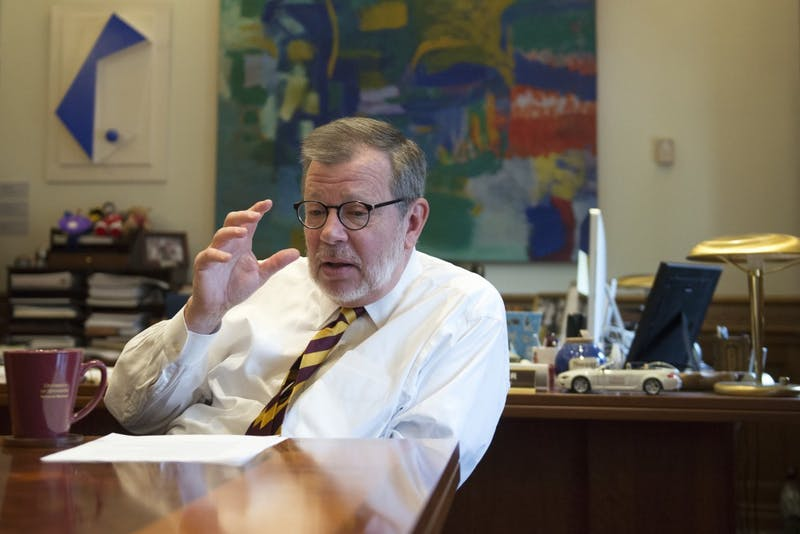 University of Minnesota President Eric Kaler fields questions from the MN Daily on Monday, July. 17, 2017.