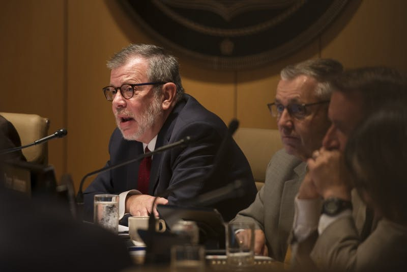 President Eric Kaler speaks during the University's Board of Regents meeting on Friday, Sep. 14 at the McNamara Alumni Center.