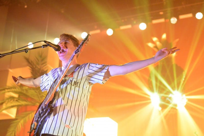 Glass Animals lead singer Dave Bayley greets the crowd at Palace Theatre on Wednesday, Sept. 27 in Saint Paul.
