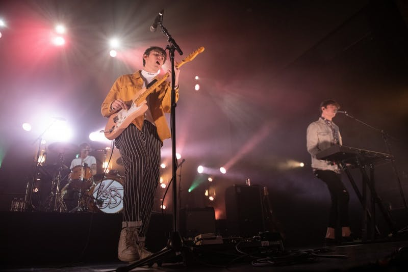 Hippo Campus performs on Friday, Nov. 23 at the Palace Theatre in Saint Paul.
