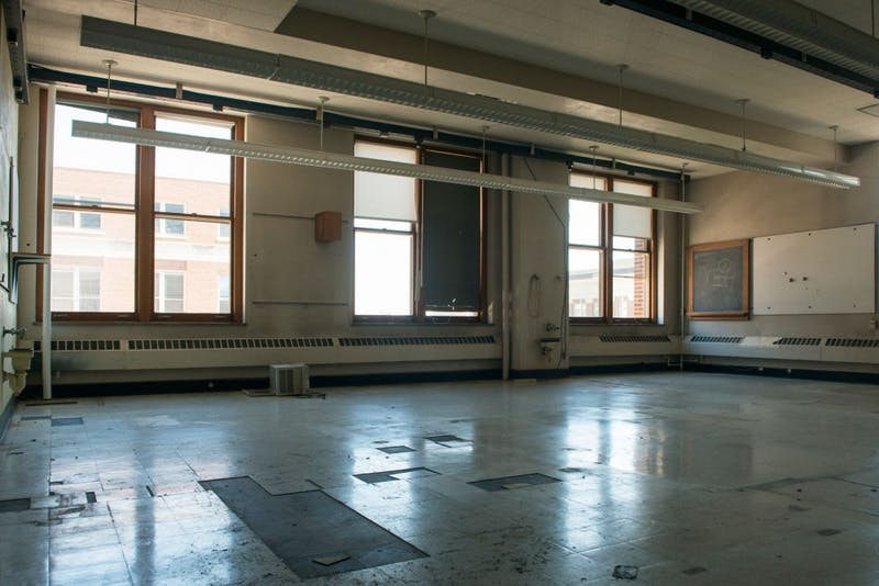 The Tate Laboratory of Physics sits empty in preparation for the two years of renovation planned for the building. While the exterior of the building will be maintained, the interior will undergo a complete remodel, introducing modern lecture halls, labs, and office space, the largest renovation the building has seen in nearly 50 years.