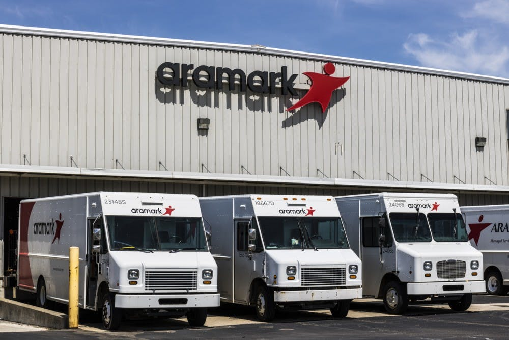 Fort Wayne - Circa April 2017: Aramark Uniforms Services. Aramark is a foodservice, facilities, and uniform services provider III