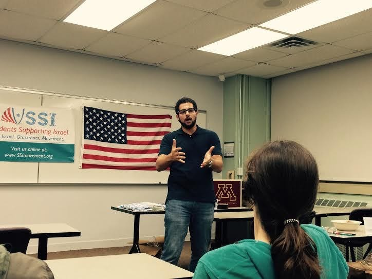Egyptian Peace Activist Hussein Mansour Joins Students Supporting Israel on Campus