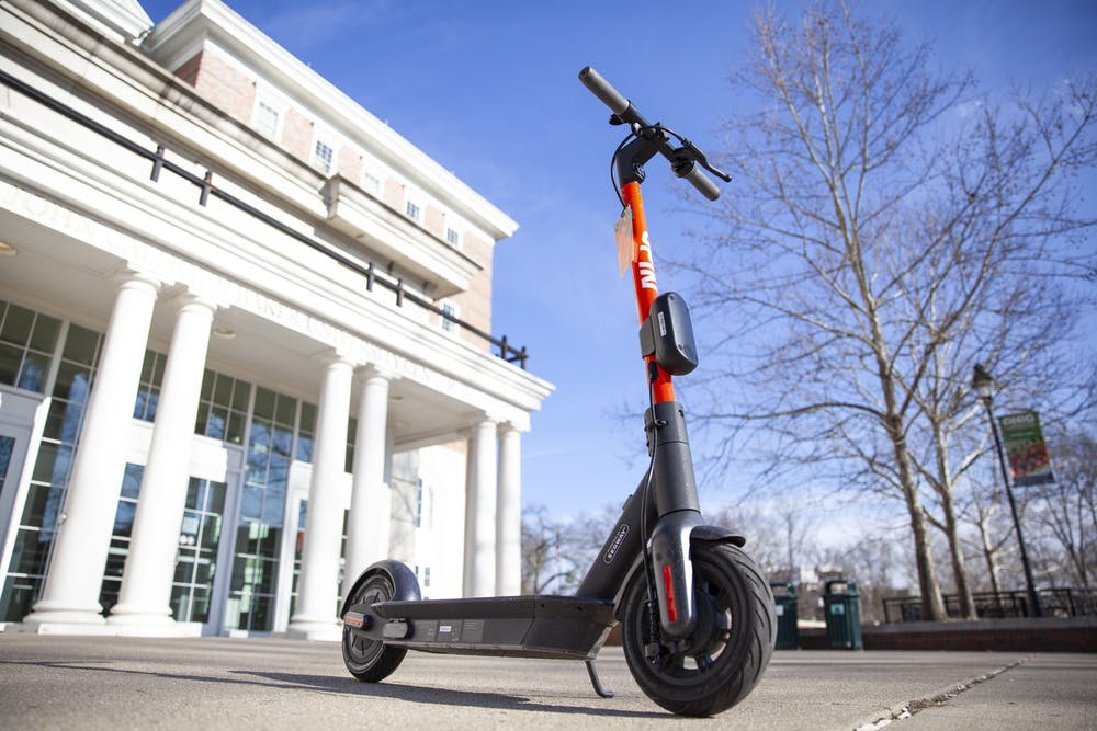 Spin e-scooters raise some concerns on campus, city