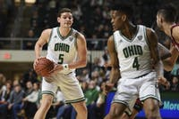 Ohio's Ben Vander Plas looks for a pass during its game against Miami on Friday at the Convo.