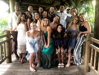 The cast celebrate Chris and Krystal's wedding on this week's episode of 'Bachelor in Paradise.' (Photo via @bachelorinparadise on Instagram)