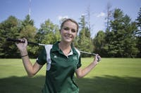 Women's golf player Hailey Hrynewich of Muskegon, Michigan, poses for a portrait. (File)
