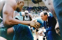 Larry Hunter coaches his team in The Convo. He died Friday morning. (Photo courtesy of Ohio athletics).