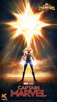 'Captain Marvel' is in theaters now. (via @MarvelChampions on Twitter)