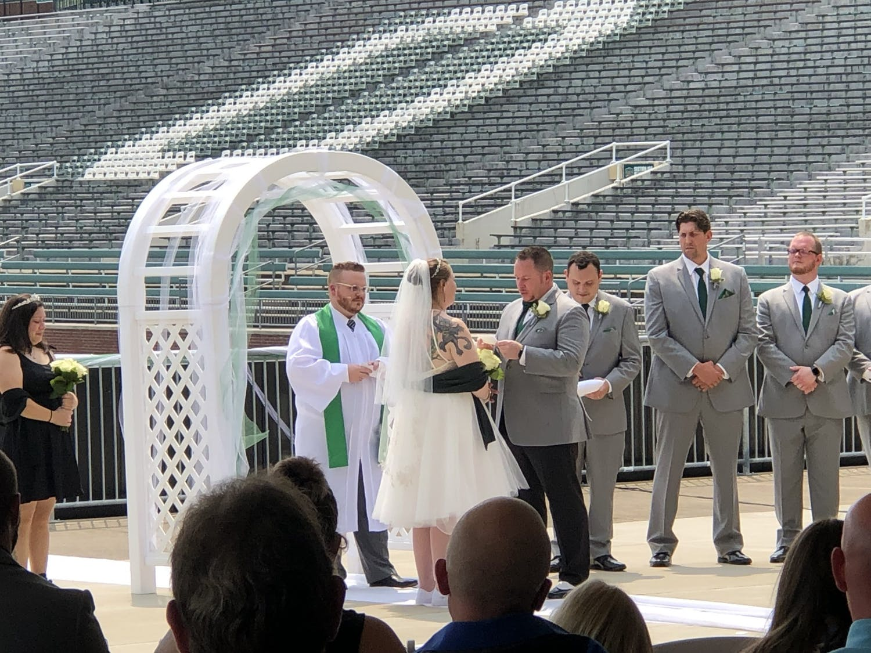 peden stadium wedding