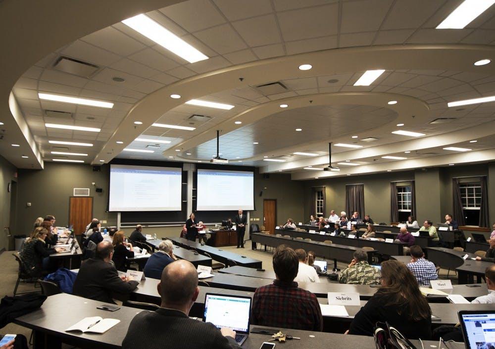 Faculty Senate: Senators will vote on two resolutions regarding the Faculty Handbook