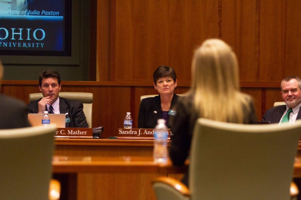 Ohio University Board of Trustees discusses lowering student costs at joint committee meeting