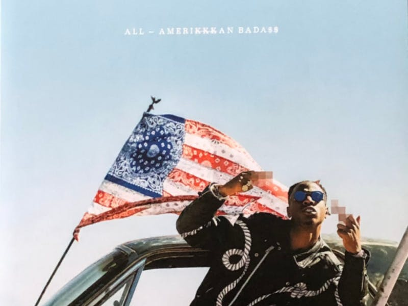 Joey Bada$$ released *ALL-AMERIKKKAN BADA$$ (AABA) on *April 7, 2017  (Photo provided via @JayCeeRapTakes on Twitter)
