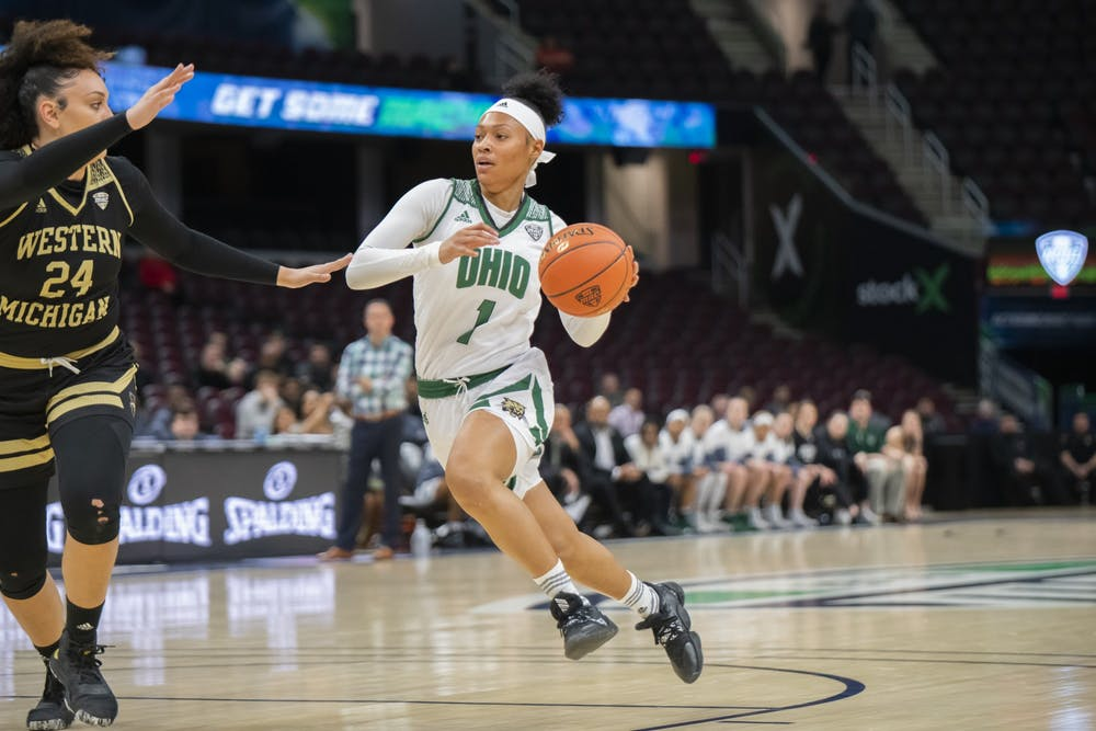 Women's Basketball: Ohio receives support from men's team in first MAC Tournament win