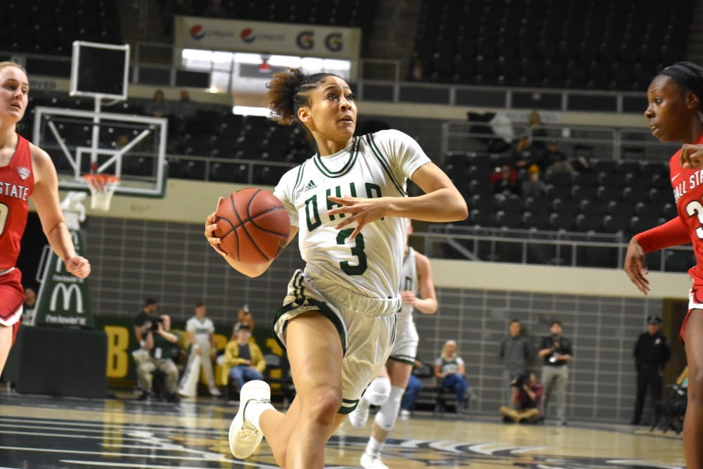 Women's Basketball: Amani Burke breaks school record in blowout win over Ball State