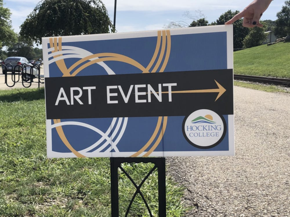 The art event took place during Labor Day weekend.