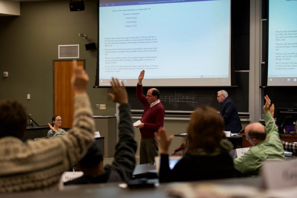 Board of Trustees Chair and Vice Chair meet with Faculty Senate, Reading Day under review