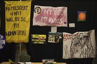 International Women's Art Installation located in Baker Ballroom on Tuesday.