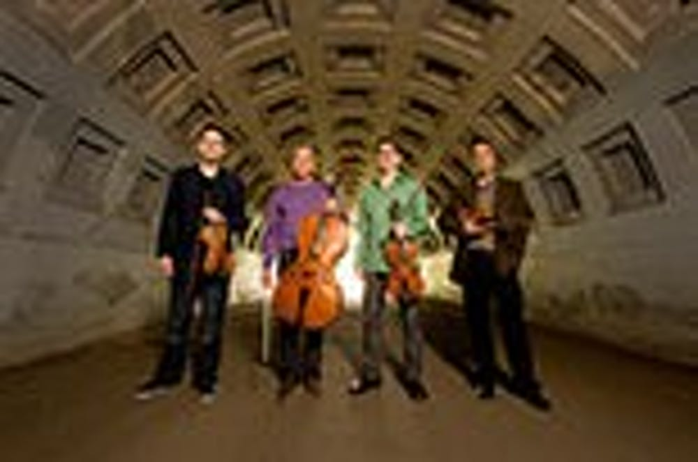Quartet to perform, work with students