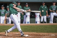 Ohio's Aaron Levy swings the bat during Ohio's game against Eastern Michigan on April 13. The Bobcats beat the Eagles 5-4 in their first game of a doubleheader. (FILE)
