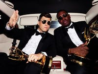 Colin Jost and Michael Che hosted the 70th annual Primetime Emmy Awards on Monday. (Photo via @nbcsnl on Instagram)