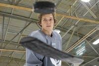 Ohio defenseman Sam Turner (27) poses for a portrait at Bird Arena.