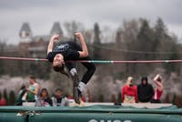 Ohio's Hannah Bush participates in the high jump during the Cherry Blossom Invitational on March 1, 2017. (FILE)