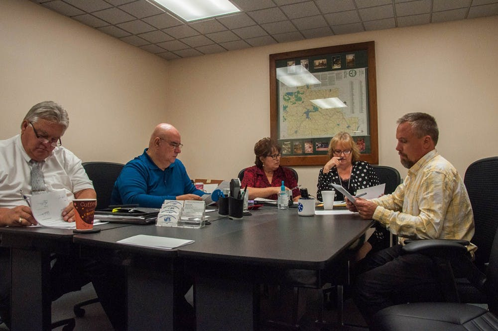 Athens County Board of County Commissioners discuss heating in floor plans for new EMS station