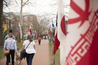 Flags at the International Street Fair on Saturday, April 7, 2019. [Alexandria Skowronski | FOR THE POST]