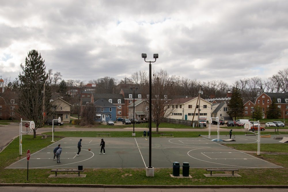 Basketball courts to be redone next year