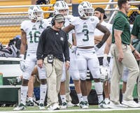 Frank Solich won his 100th game with the Bobcats on October 6 against Kent State. (FILE)