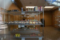 The food pantry is now located on the 5th floor of Baker Center.