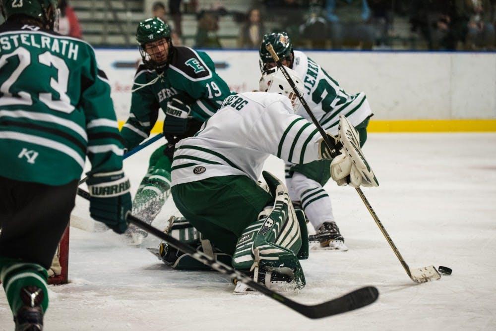 Hockey: Jackson Chilberg earns first career shutout in 5-0 Ohio win over Slippery Rock