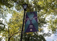 Banners hang in support of sexual assault survivors all throughout Ohio University campus. (FILE)