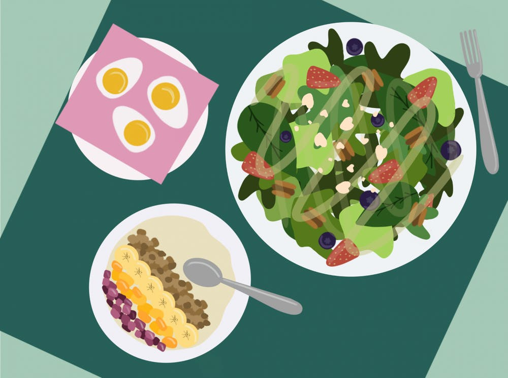 How to eat healthy in the dining halls