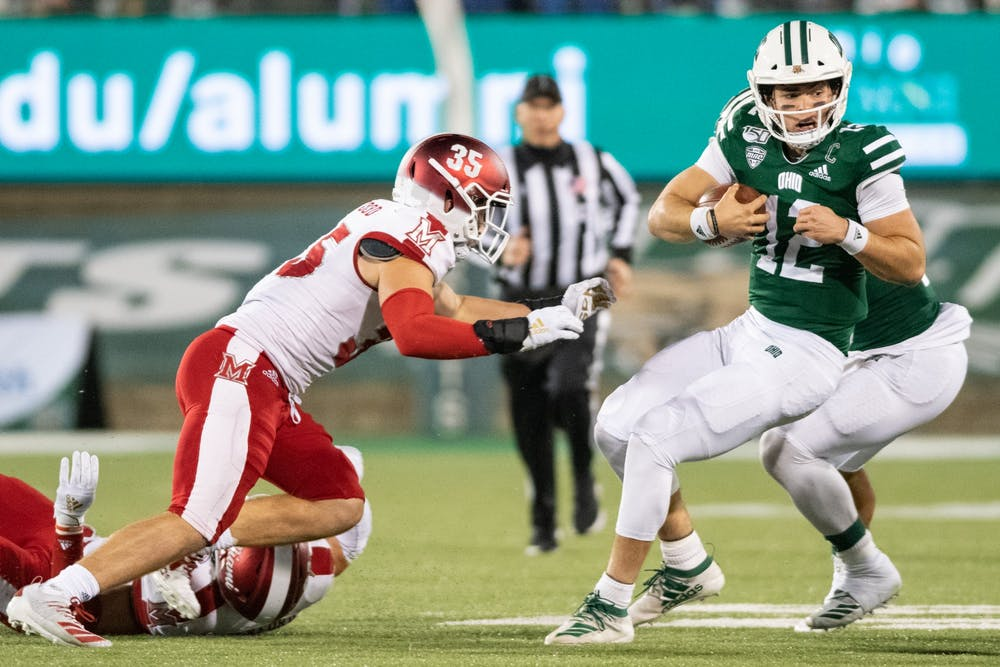 Football: Ohio's title hopes take significant hit again after 24-21 loss to Miami