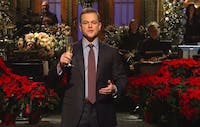 A skit from Matt Damon's recent episode of 'Saturday Night Live' made our list of the best Christmas skits the show has produced. (via @TwitterMoments on Twitter)