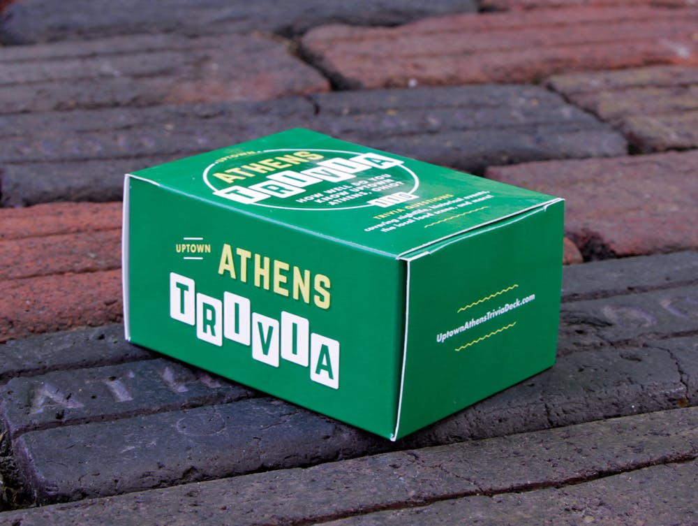 Athens-themed trivia card game going to print this week