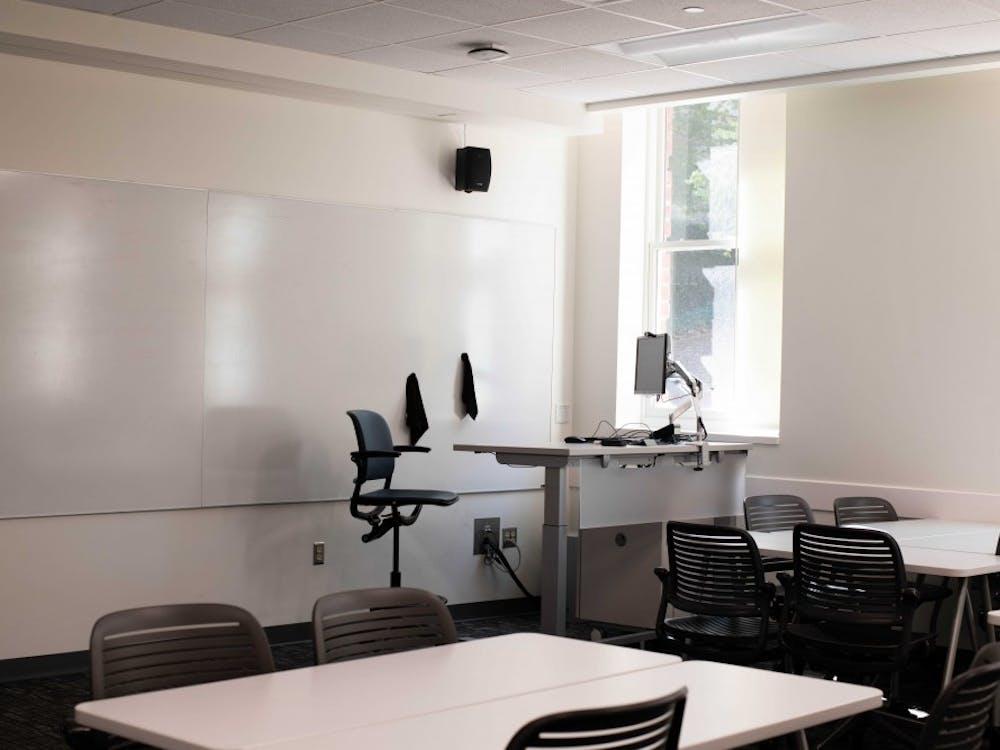 A new classroom inside Ellis hall on Ohio University's campus.