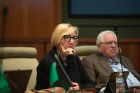 Board of Trustees member Peggy Viehweger during a meeting discussing undergraduate student enrollment growth on Thursday.
