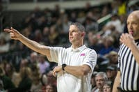 Ohio coach Bob Boldon on the sidelines during the team's game Feb. 16. (FILE)