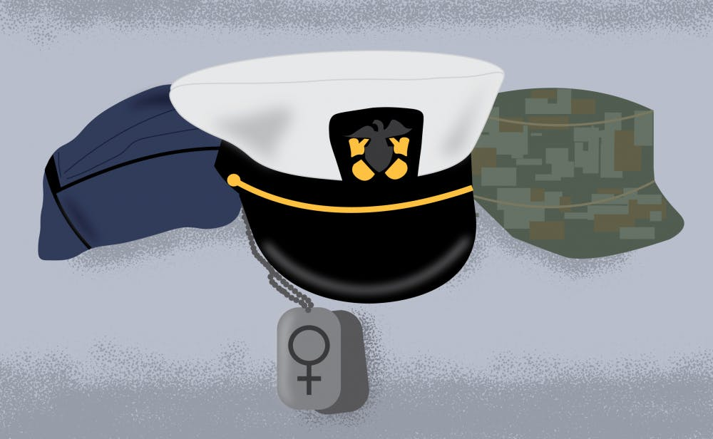 Women in military service experience similar challenges to male counterparts
