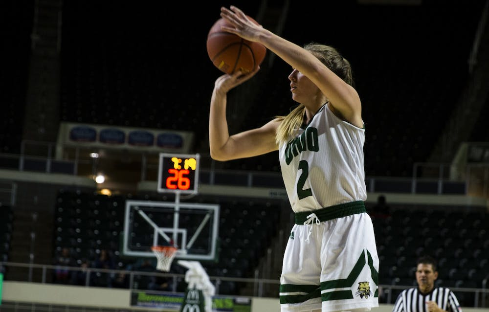 Women's Basketball: Katie Barker's hot first quarter sets the tone for Ohio's 67-51 win over Marshall