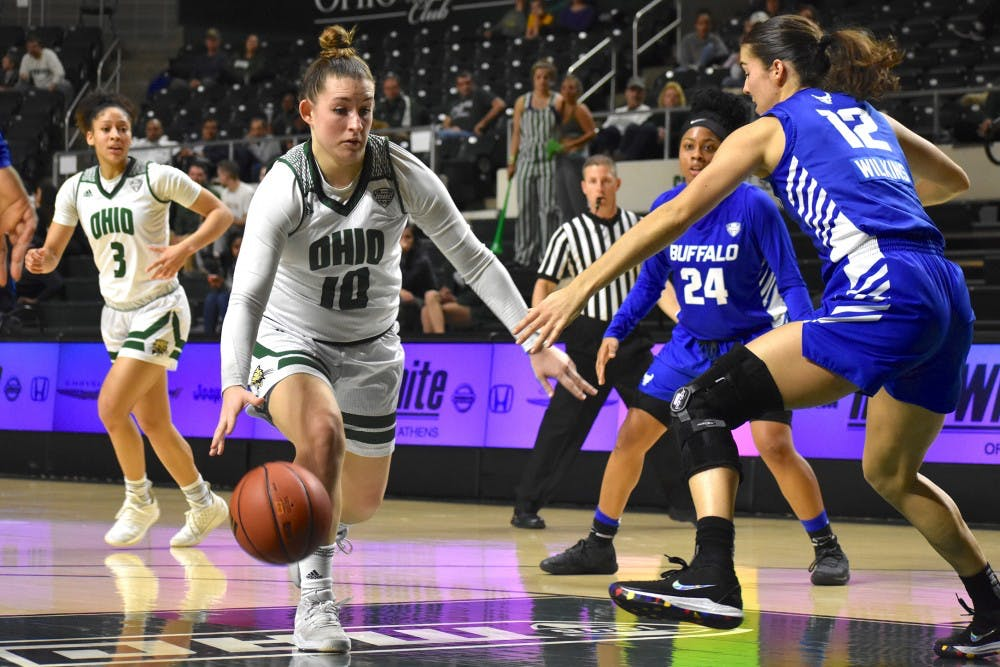 Women's Basketball: Cece Hooks and Erica Johnson lead Ohio to 72-56 win over Northern Illinois