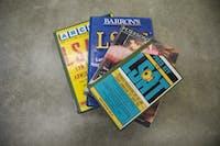 LSAT prep books in Alden Library