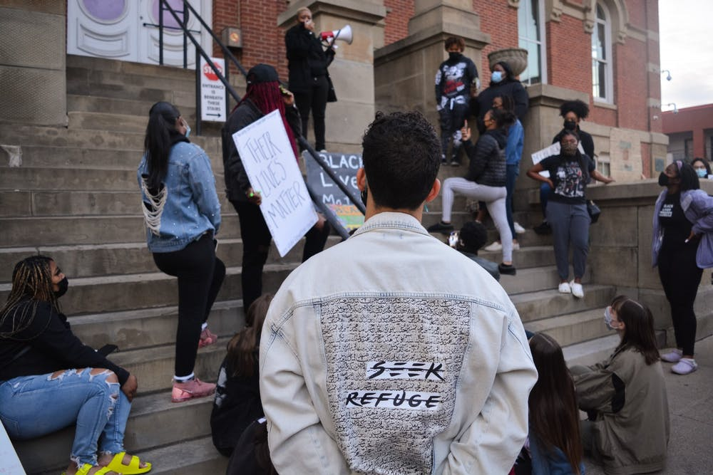 NAACP at OU protests death of Ma'Khia Bryant, Daunte Wright at Athens County Courthouse